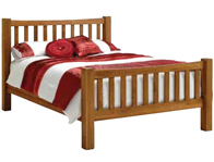 Instyle Country Oak Rustic Bed Frame
