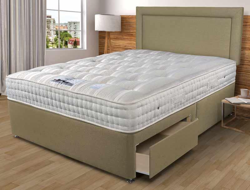 Sleepeezee backcare luxury 1400 pocket divan bed buy for Best value divan beds