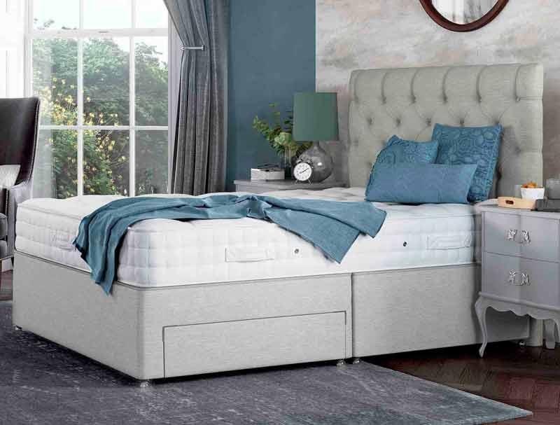 Relyon braemar 1400 pocket divan bed buy online at for The best divan beds