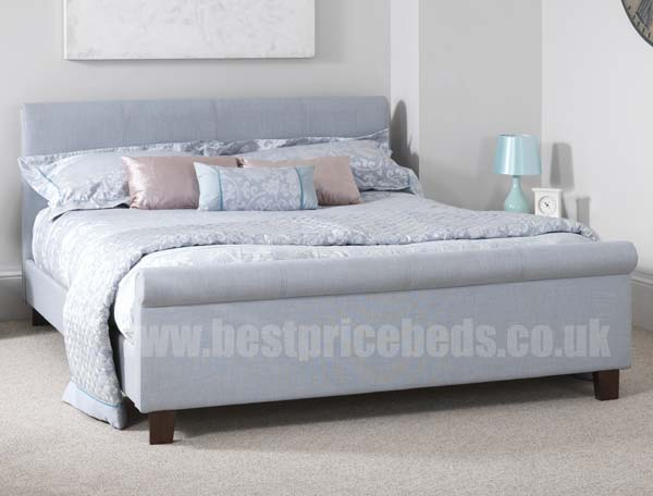 Serene Hazel Fabric Sleigh Bed Frame Buy Online At