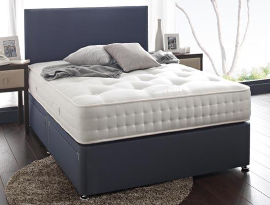 Hush a bye berkeley 1700 natural pocket divan bed at for Best value divan beds