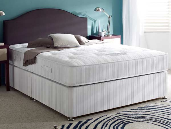 Hush a bye ortho care firm coil spring divan bed at for Firm divan beds