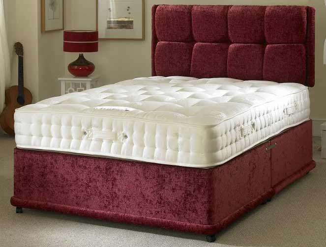 Bedmaster signature gold 1800 pocket divan bed buy for Bed master