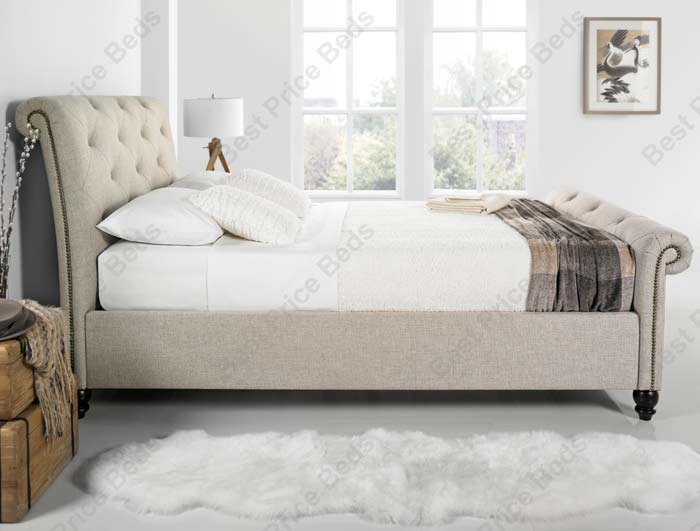 Kaydian belford chesterfield style fabric bed frame buy online at bestpricebeds