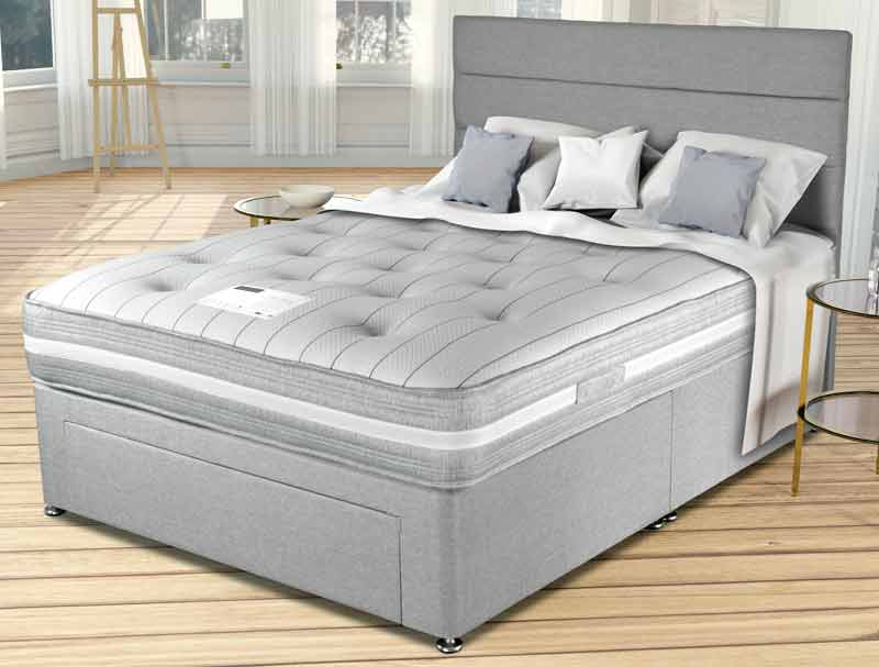 Siesta beds richmond ortho divan bed buy online at for Best single divan beds