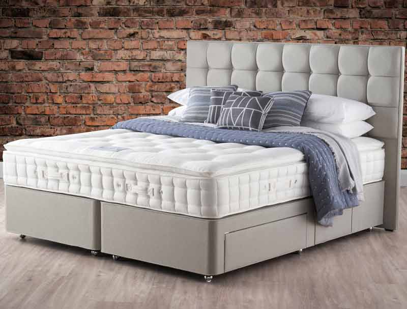 Hypnos Pillow Top Pearl 6 Non Turn Divan Bed Buy Online At Bestpricebeds