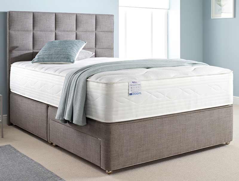 Relyon zoom 9000 pocket memory divan bed buy online at for Best value divan beds