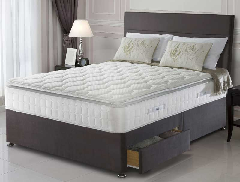 Sealy nostromo 1400 pocket and latex divan bed buy for Best value divan beds