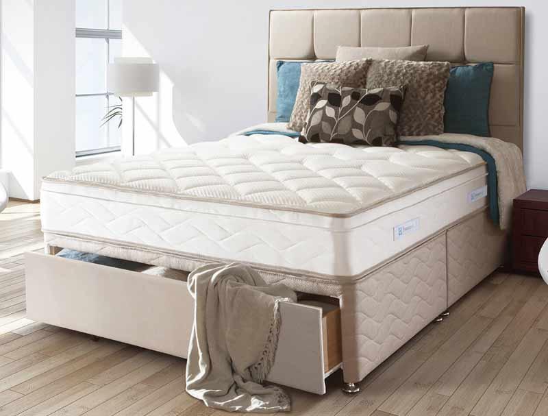 Sealy Pearl Geltex Posturpeadic Spring Divan Bed Buy Online At Bestpricebeds