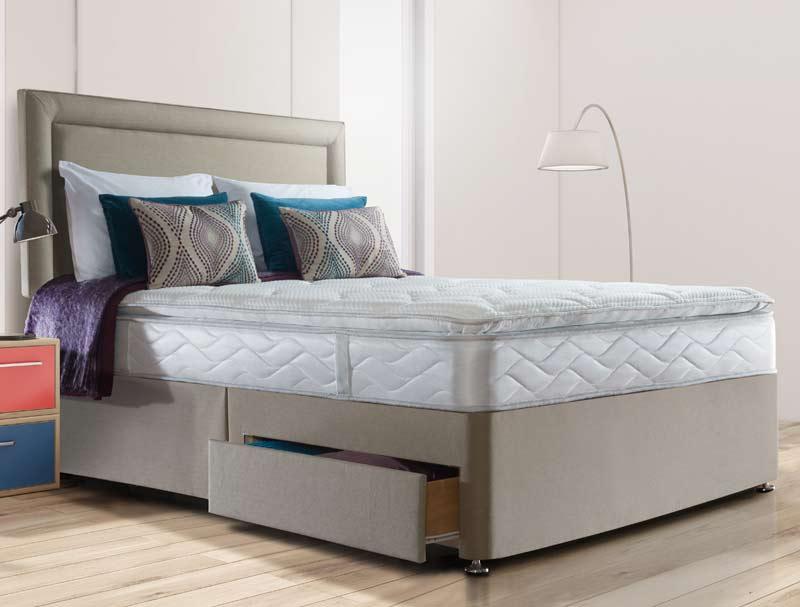 Sealy Pearl Luxury Pillow Top Spring Divan Bed Buy Online At Bestpricebeds