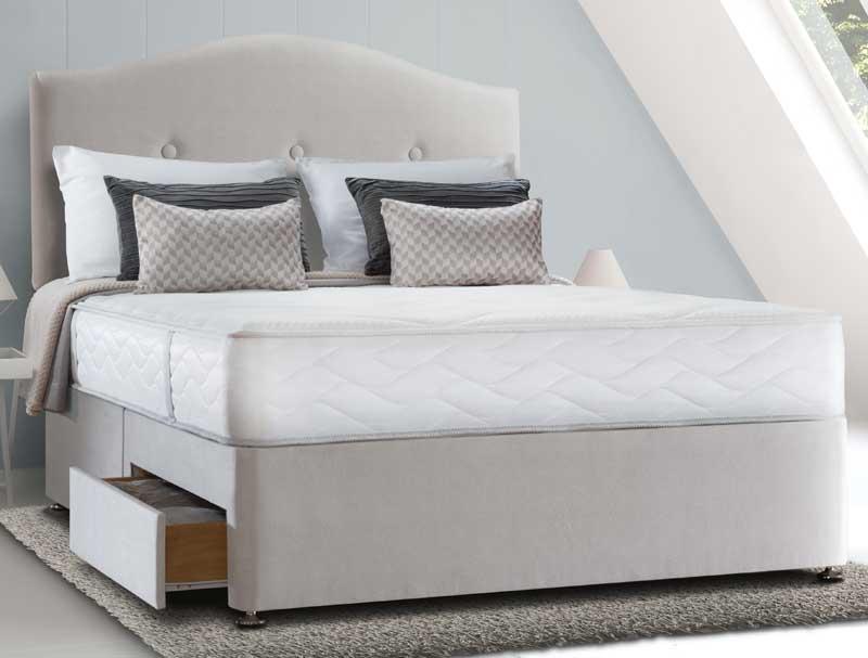 Sealy pearl memory divan bed buy online at bestpricebeds for Best value divan beds