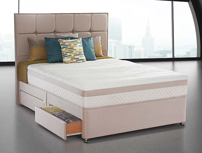 Sealy Pearl Reflexion Posture Spring Divan Bed At