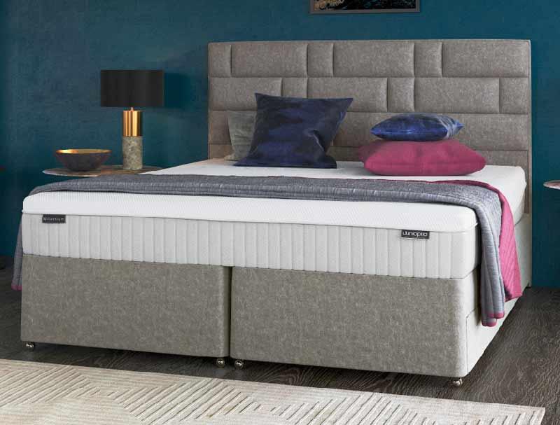 Dunlopillo millenium divan bed buy online at bestpricebeds for Best value divan beds