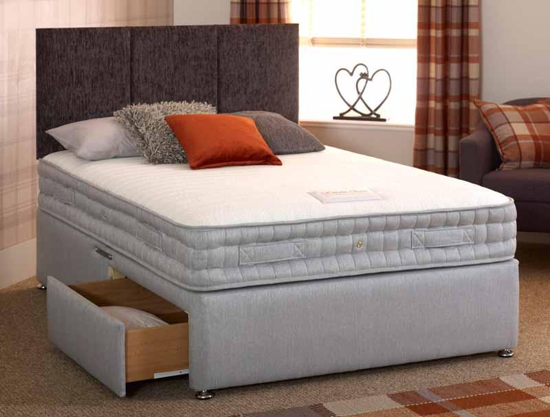 Morley beds picasso 1500 pocket memory divan bed at for Best value divan beds