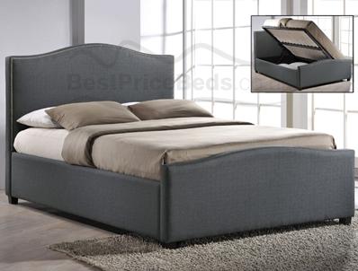 time living brunswick side open ottoman bed frame at. Black Bedroom Furniture Sets. Home Design Ideas