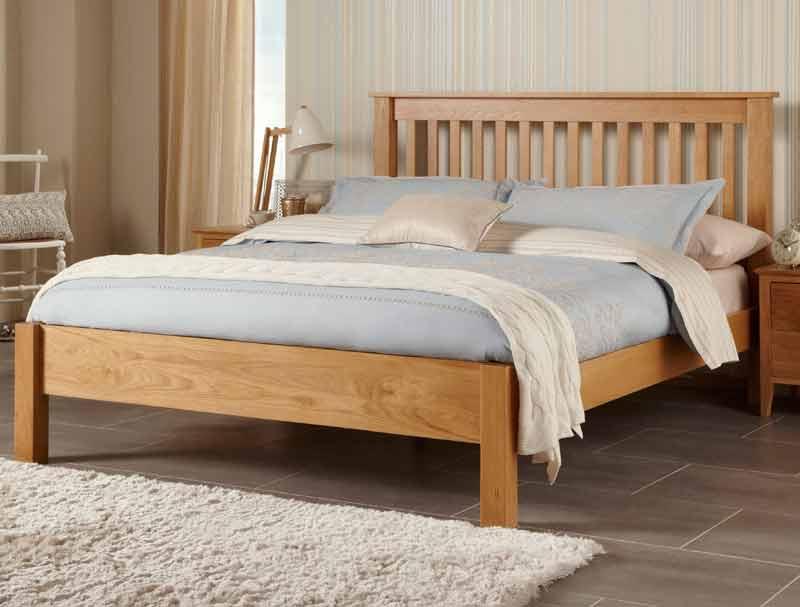 Serene Lincoln Solid Oak Bed Frame Buy Online At