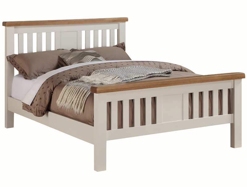 Annaghmore Heritage Stone White Amp Oak Bed Frame Buy Online At Bestpricebeds