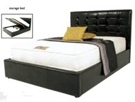 Annaghmore Helsinki Faux Leather Drawer Bed Frame - king size