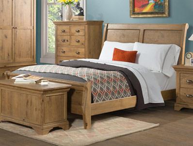 Annaghmore Lyon Oak Low End Bed Frame