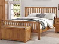 Annaghmore Oakridge Oak Bed Frame