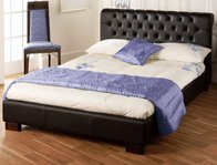 Bedmaster Aries Double Size Faux Leather Bed Frame
