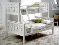 Bedmaster Atlantis Triple Sleeper  White Painted Bunk Bed Frame