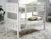 Bedmaster Atlantis White Painted Bunk Bed  Frame