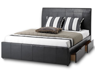 Bedmaster Madissen Faux Leather Drawer Bed Frame