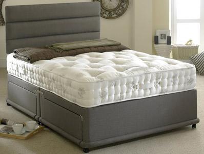 Bedmaster signature silver 1400 pocket divan bed buy for Best divan beds uk