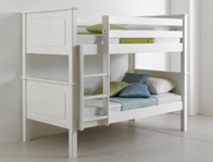 Bedmaster Vancouver White Painted Bunk Bed Frame