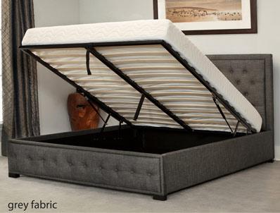 Bestpricebeds Alberta Fabric Ottoman Bed Frame