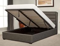 Bestpricebeds Cheltennham Grey Fabric Ottoman Bed Frame