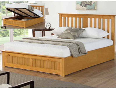 Bestpricebeds Cohiba Wooden Ottoman Bed Frame