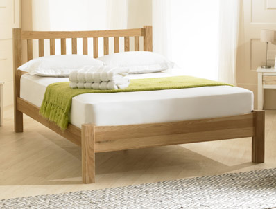 Bestpricebeds Inter Solid Oak Low End Bed Frame