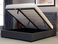 Bestpricebeds Kennington Grey Wing Ottoman Bed Frame