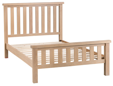 BestPriceBeds Loughton Oak Veneer Bed Frame