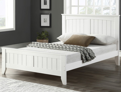 Bestpricebeds Lullaby White Painted Wooden Bed Frame