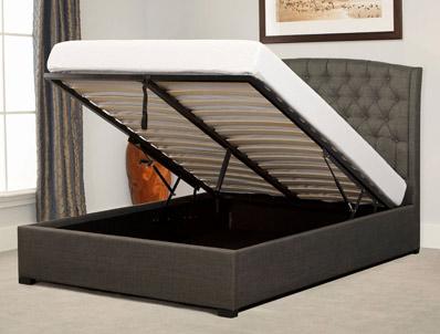 Bestpricebeds Lyndham Grey Ottoman Bed Frame