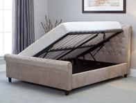 Bestpricebeds Oxted  Scroll Ottoman Bed Frame