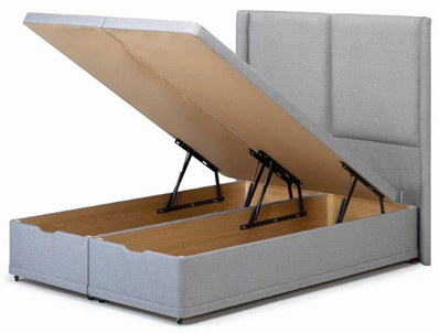 Bestpricebeds Seaton End Open Ottoman Base and Optional Headboard
