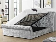 Bestpricebeds Serene Crush Velvet  Sleigh Storage Bed Frame