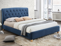 Birlea Brompton Midnight Blue Fabric Bed Frame