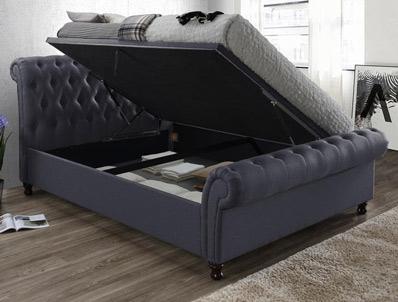 Birlea Castello Charcoal Colour Side Open Ottoman Bed frame