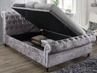 Birlea Castello Crushed Steel Side Open Ottoman Bed frame