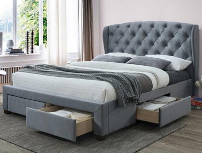 Birlea Hope Fabric Drawer Bed Frame