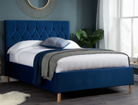 Birlea Loxley Blue Fabric Bed Frame