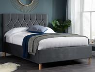 Birlea Loxley Elm Grey  Colour Fabric Bed Frame