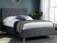 Birlea Loxley Grey Colour Fabric Bed Frame