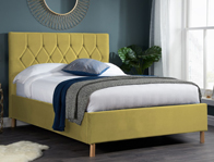 Birlea Loxley Mustard Colour Fabric Bed Frame