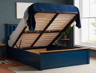 Birlea Phoenix Navy Blue & Oak Colour Ottoman Bed Frame